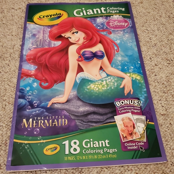 - Disney Office Crayola 8 Giant Coloring Pages The Little Mermaid Poshmark